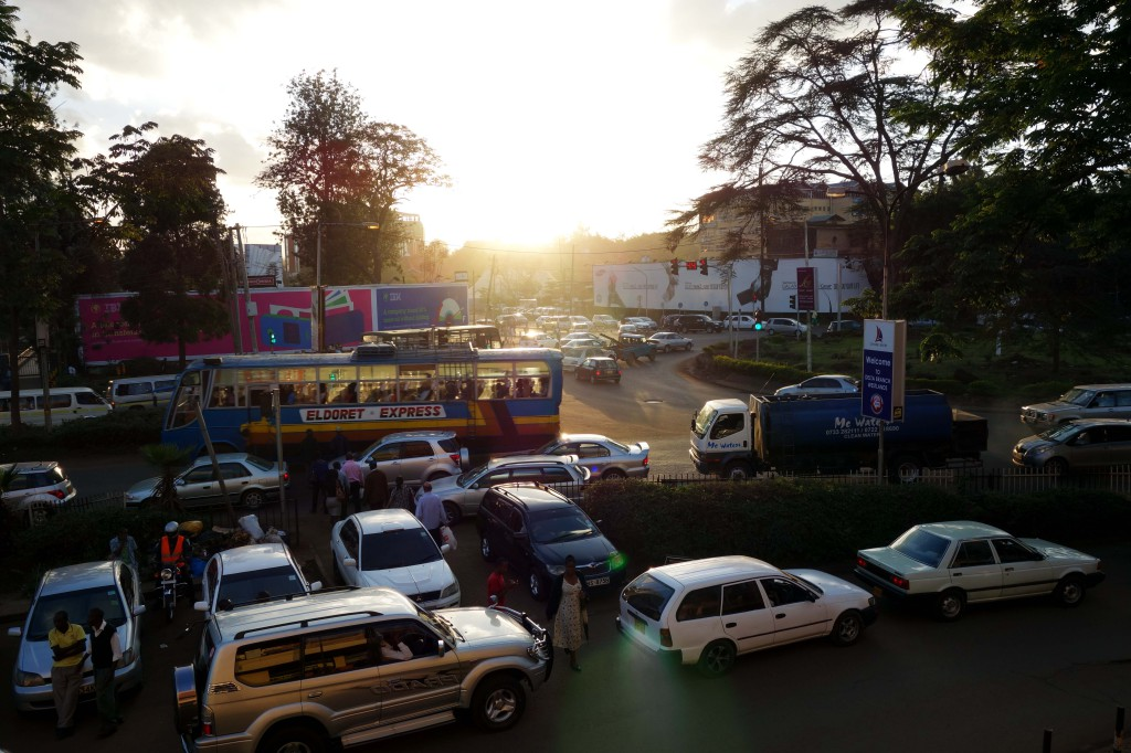 Kenya / Nairobi / Westlands Traffic Jam