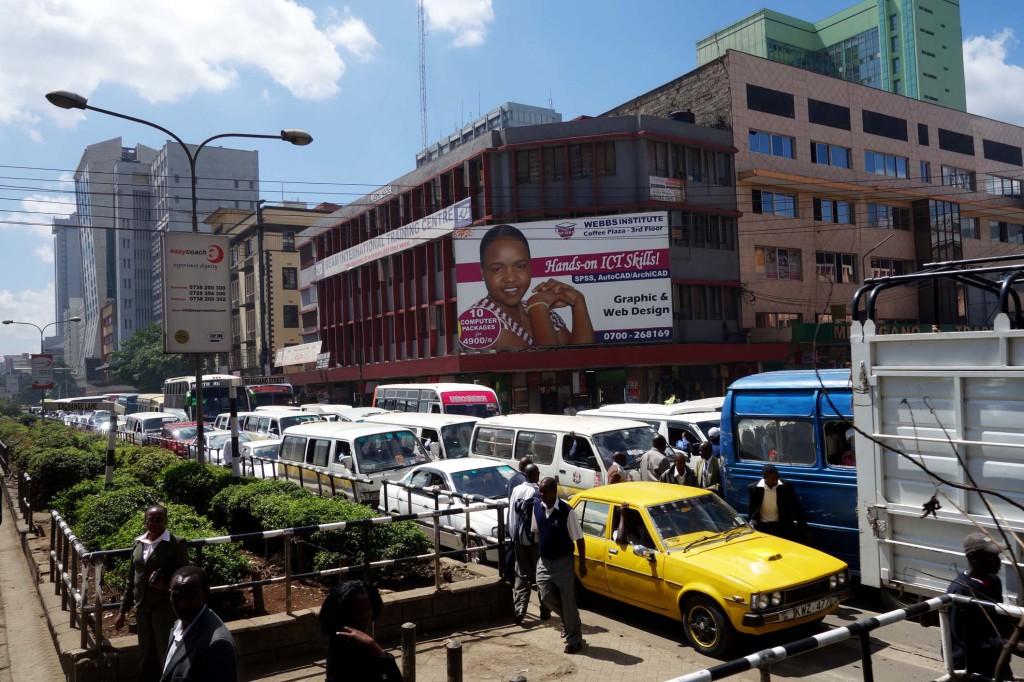 Kenya / Nairobi / Downtown Traffic Jam